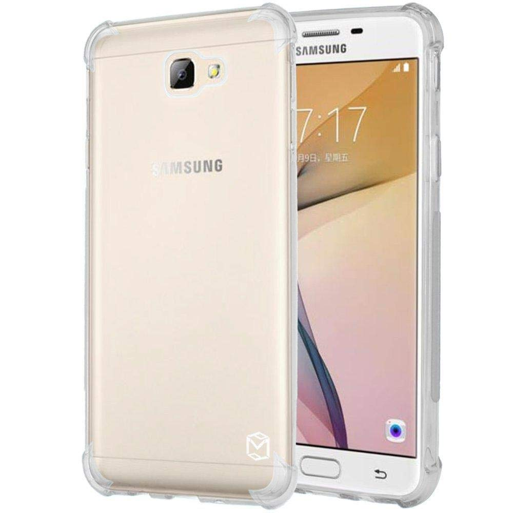 Samsung J7 Prime Case, Crystal Clear Slim Protection and Premium Clarity  Shockproof Hybrid Scratch Resistant Back Cover TPU Raw Material Case