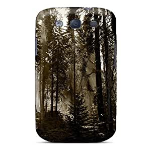 Cute Appearance Cover/tpu MnFuHEP7952XSAOQ Fuming Redwoods Case For Galaxy S3
