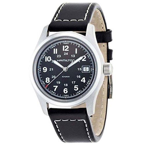 H684812 Negro Hamilton RelojCorrea De Piel Borrego Color 29EDHI