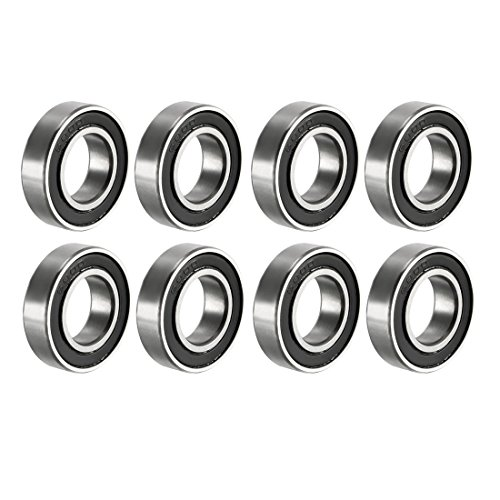 uxcell 6800RS Deep Groove Ball Bearing Double Sealed 6800-2RS 1180800, 10mm x 19mm x 5mm Carbon Steel Bearings (Pack of (6800rs Bearing)