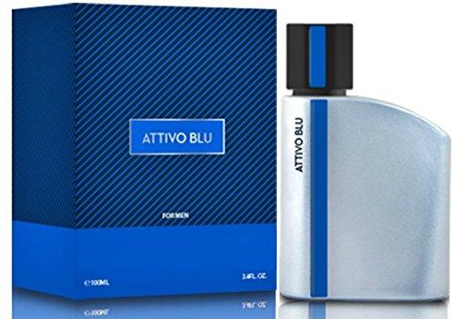 Attivo Blu Cologne for Men, 3.04 Ounce 90 Ml - Scent Similar