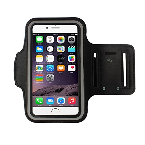 (For iphone 6 4.7 Inch, Mchoice Armband Gym Running Sport Arm Band Cover Case for iphone 6 4.7 Inch (Black))