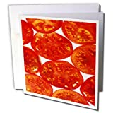 3dRose TDSwhite – Farm and Food - Food Fresh Tomato Slices - 12 Greeting Cards with Envelopes (gc_285146_2)