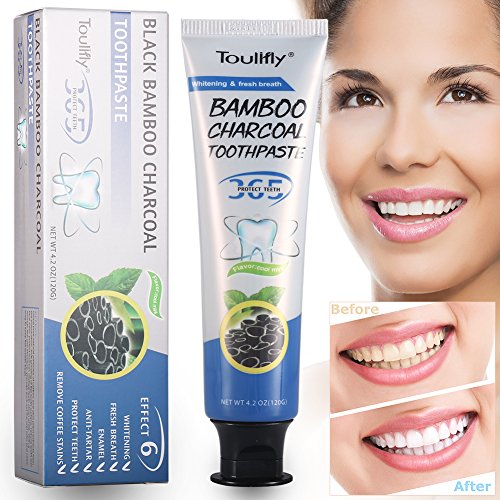 Activated Charcoal Teeth Whitening Toothpaste Coconut Flavor- DESTROYS BAD BREATH - REMOVES COFFEE STAINS,REMOVES BAD BREATH and TOOTH STAINS - Best Natural Tooth Whitener Product