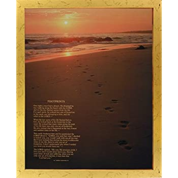 Amazon.com: Impact Posters Gallery Framed Wall Decor Footprints in ...
