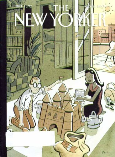 New Yorker cover Seth building sand castle in highrise parlor 8/23 2004 ()