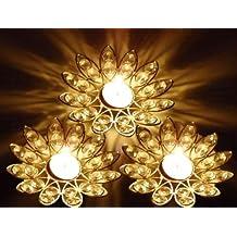 Street Craft Modern Diya,deep,jyoti Lotus Fancy Crystal Light 1 Pcs