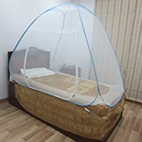 Healthgenie Premium Mosquito Net Foldable Single Bed - Blue
