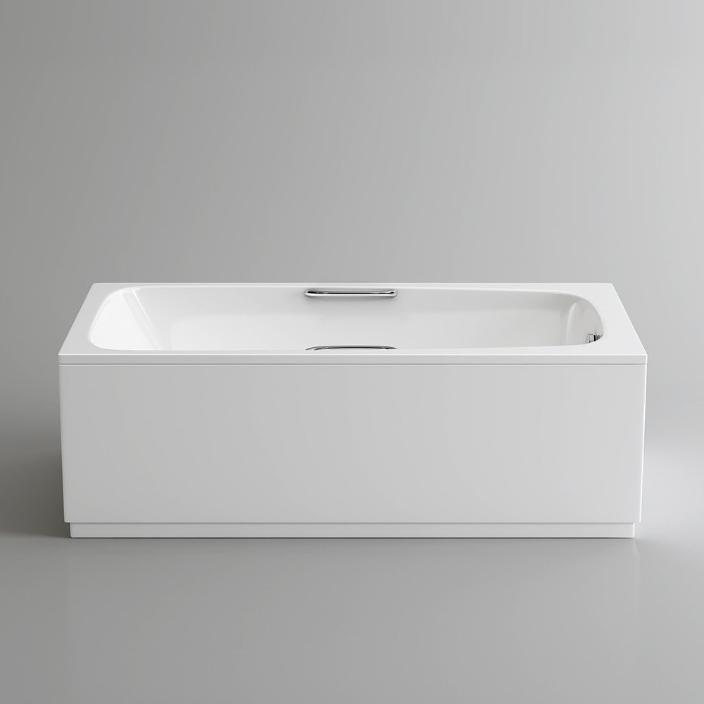 1700 mm Round Single Ended Bath Modern Straight White Bathtub with ...