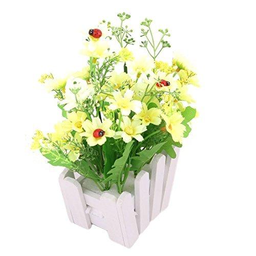 eDealMax Plantas Tela de la boda de la Margarita Brotes de sobremesa オーナメント 人工 de Emulational de Flores B07GKZ2YLF