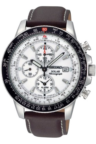 Seiko Men's SSC013 White Dial Watch (Seiko Watches For Men Ssc)