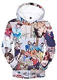 HelloTem BTS 3D Printed Unisex HoodieBangtan Boys Printed Pullover Novelty Sweatshirt
