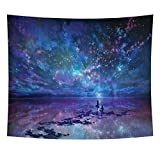 Heycell Psychedelic Star Tapestry Wall Hanging Universe Galaxy Sky Tablecloth Landscape Wall Decor for Bedroom Living Room(78.7ʺ × 59.1ʺ, Star)