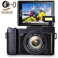 Digital Camera Camcorder Full HD 1080p Vlogging Camera...