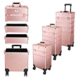 Byootique Rose Gold Rolling Makeup Case 4in1