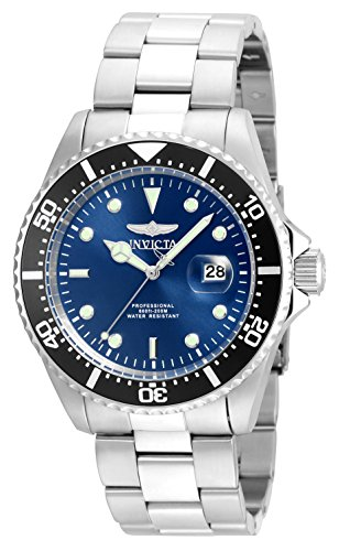 Invicta Men's 'Pro Diver' Quartz Stainless Steel Diving Watch, Color:Silver-Toned (Model: 22054) ()