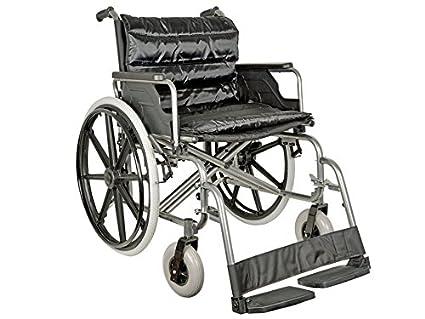 Gima Carrozzina Extra Large Con Seduta 55 Cm Tessuto Nero Portata 125 Kg