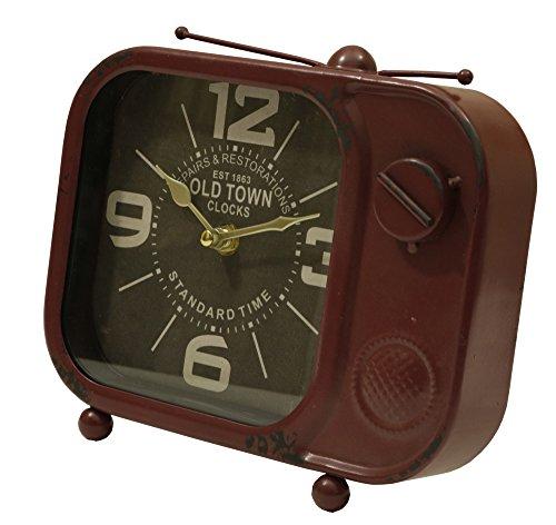 Retro TV Table Top Clock Brick (Metal Retro Tv Clock)