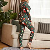 VEKDOEN Women's One Piece Onsies Print Sleepwear