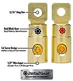 InstallGear 1/0 AWG Gauge Gold Ring Set Screw
