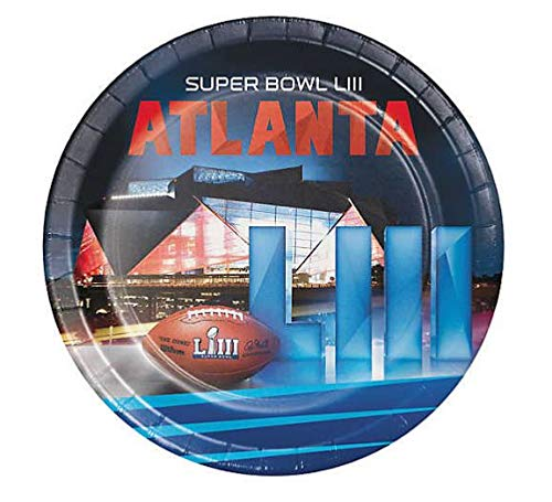 2019 Super Bowl LIII 53 Party Supply Party Pack 8-pates and 16 napkins