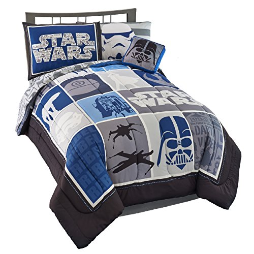 Jay Franco Star Wars Classic Lightsaber Twin Bed in A Bag - Star Wars Sheets