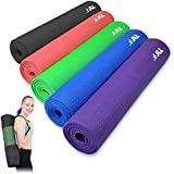 JLL® Yoga Mat. 183cm x 61cm (72inch x 24inch), 6mm Thick Exercise Fitness Workout, Mat Physio Pilates Camping Gym