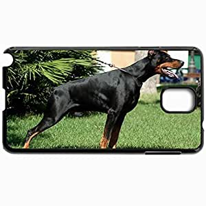 Customized Cellphone Case Back Cover For Samsung Galaxy Note 3, Protective Hardshell Case Personalized Dog Doberman Black