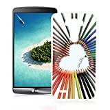 OuDu Silicone Case for LG G3 Soft TPU Rubber Cover Flexible Slim Case Smooth Lightweight Skin Ultra Thin Shell Creative Design Cover - Colourful Love