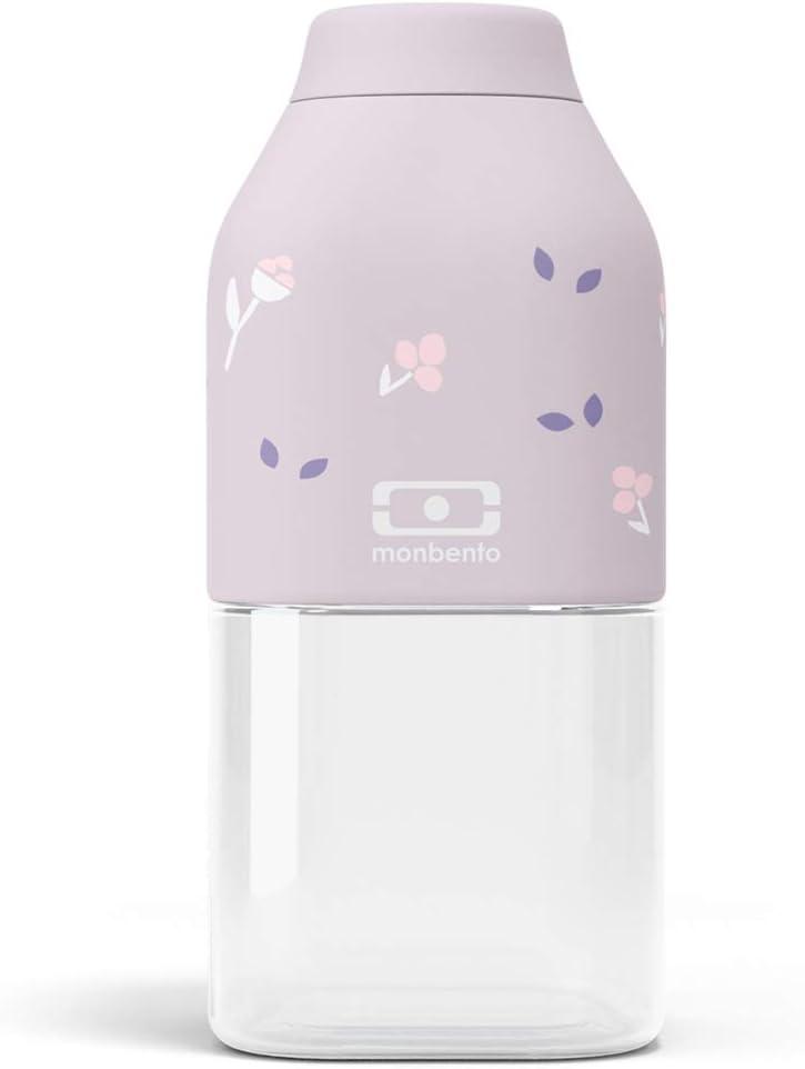 monbento - MB Positive S Violeta Unicorn 33cl Purpura- Botella Agua sin BPA - Botella Agua niños - Ideal para el Deporte y la Escuela