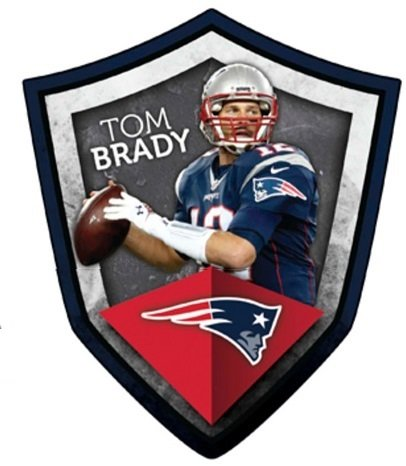 FATHEAD Tom Brady New England Patriots Official NFL Vinyl Wall Graphic 21''x17'' INCH by FATHEAD
