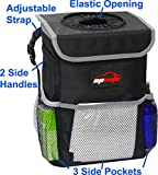 EPAuto Waterproof Car Trash Can with Lid and