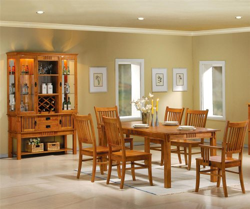 Coaster Marbrisa Casual Dining Room Set with Dining Table and 6 x Dining Chair