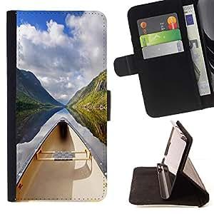 Momo Phone Case / Flip Funda de Cuero Case Cover - Naturaleza Hermosa Forrest Verde 130 - LG G3