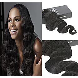 Sunny Clip In Human Hair Extensions Body Wave 100% Virgin Remy Human Hair 7 pieces 120gram Grade 8A for Thin Hair Natural Black 20 Inch