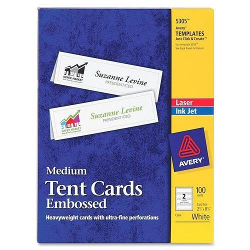 AVE5305 - Avery Tent Card