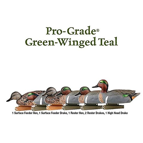 Winged Duck Teal Green (Greenhead Gear Pro-Grade Duck Decoy,Green-Winged Teal/Early Season Hen Pack,1/2 Dozen)