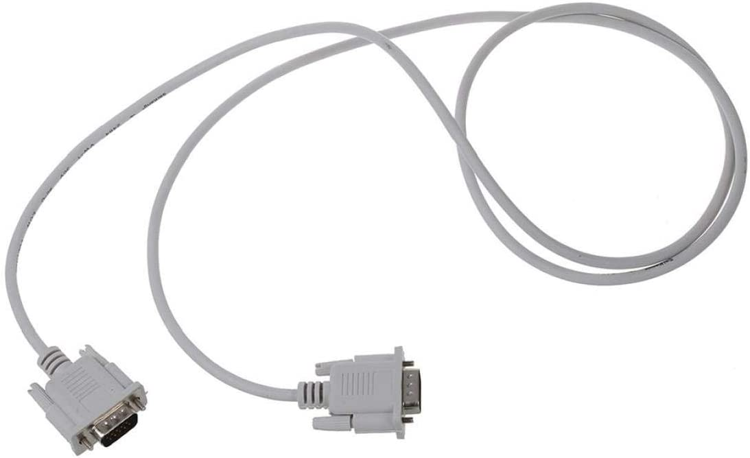 FEDSJUIHYG Rs232 Db9 Practical 9 Pin Male to Industrial Adapter Line Electronic Accessories 1.3m Long White Serial Port Cable