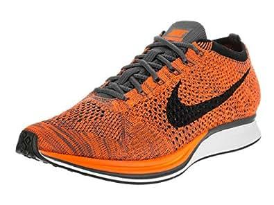 Nike Unisex Flyknit Racer Total Orange/White/Dark Grey Running Shoe 5 Men US / 6.5 Women US