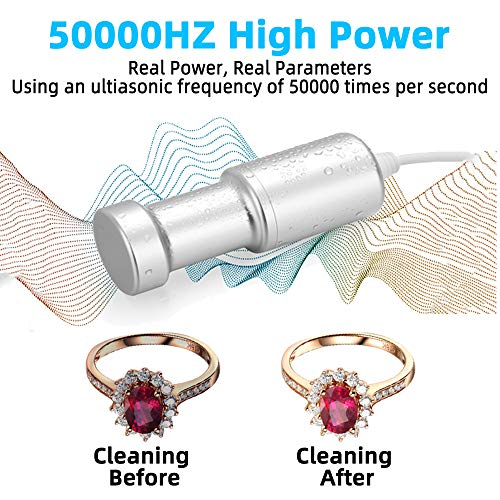 BlumWay Ultrasonic Jewelry Cleaner, Professional Ultrasonic Cleaning Machine for Silver Jewelry Diamonds Ring Glasses Fruits Vegetable Watches Kids Toys Clothes and More, Portable for Home and Travel