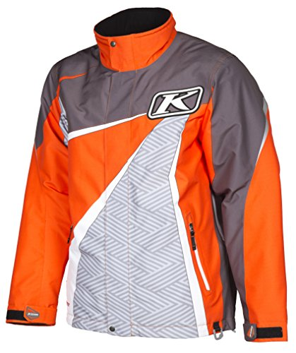 Klim Kaos Parka Men's Ski Snowmobile Jacket - Orange/Large