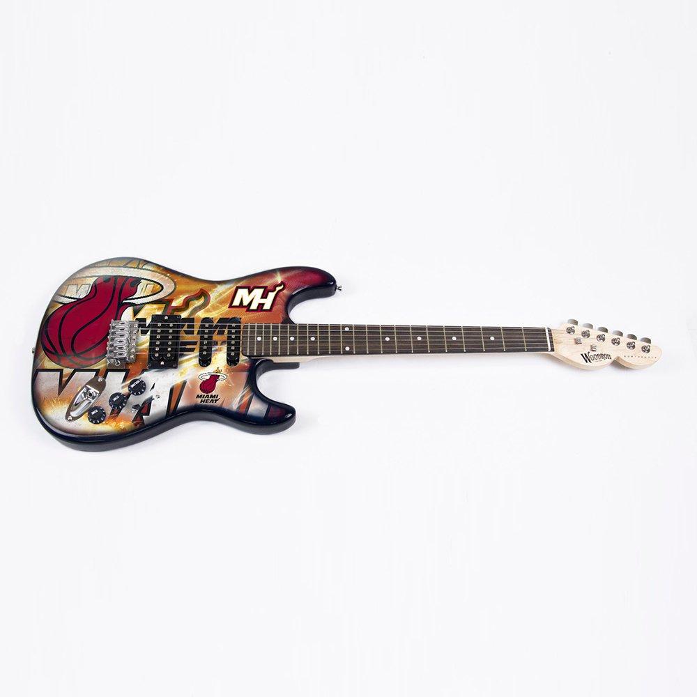 NBA Miami Heat Northender Guitar, 39'' x 13'', Red