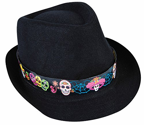 Day Of The Dead Fedora Hat (Day Of The Dead Hat)