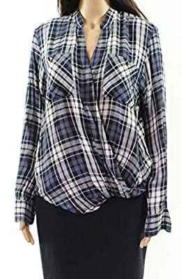 Lauren by Ralph Lauren Women's Plaid Button Up Shirt