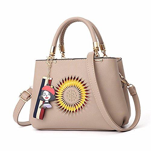 de Bolsos Rojo Caqui CCZUIML Bag Moda inclinadas Bolsos Bolsas Hombro Mujer Casuales de de BEfqqHw5