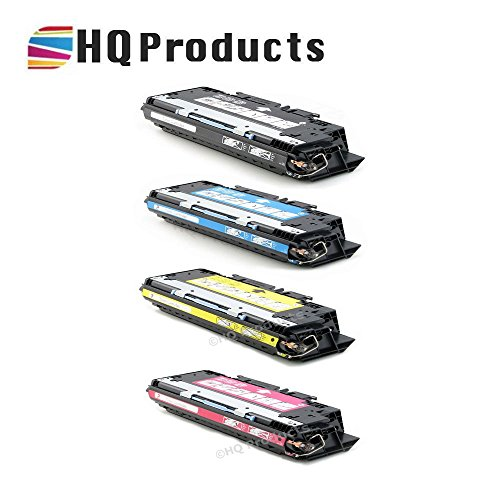HQ Products Remanufactured Replacement HP 308A / 311A 4Pk Set (Q2670A, Q2681A, Q2682A, Q2683A) B, C, Y, M Toner Cartridges for HP Color Laserjet 3700, 3700DN, 3700DTN, 3700N Series Printers.