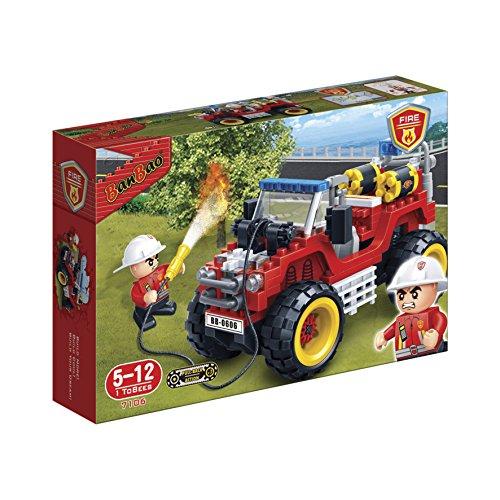 Bombeiro Jipe 212Pcs, Fun Brinquedos