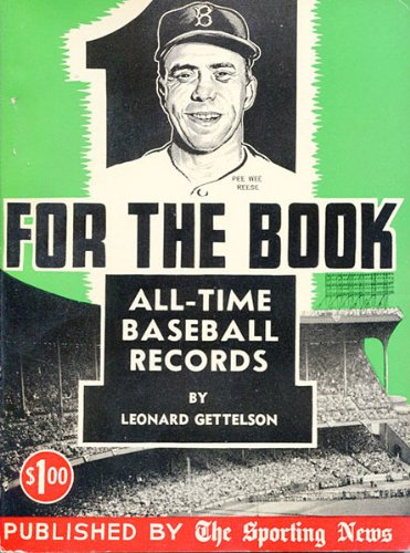 1957 For The Book All-Time Baseball Record Book Sporting News Pee Wee Reese from Hollywood Collectibles