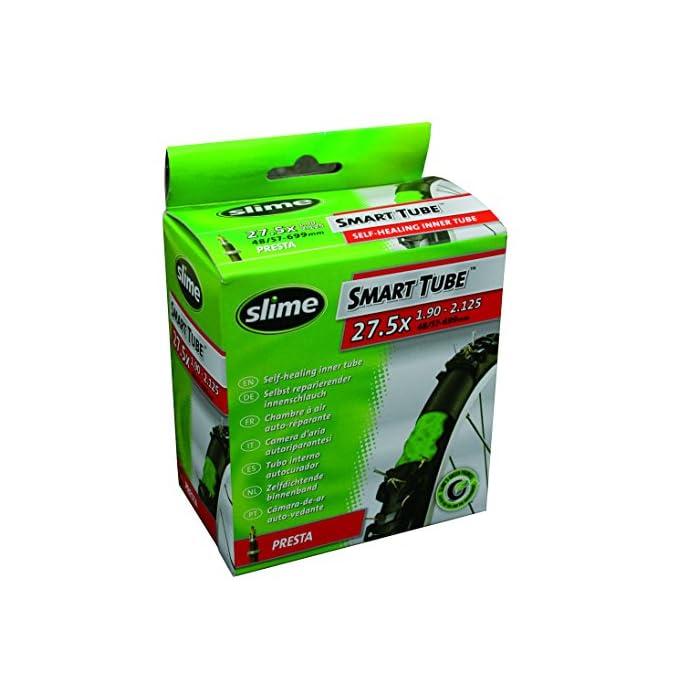 Slime 30077 Cámara Interior de Bicicleta con Sellante de Pinchazos Slime, Sellado Autónomo, Prevenir y Reparar, Válvula Schrader, 50/60-584mm (27,5 (650b) x 2,0-2,4)