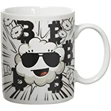 Global View Family- Heat Color Sensitive Coffee Mug with Motivational Algorithm Quote and Unique Cloud with Sunglasses Bitcoin Mug-11 OZ Certificated 100% Ceramic Cup Packed in a Beautiful Gift Box
